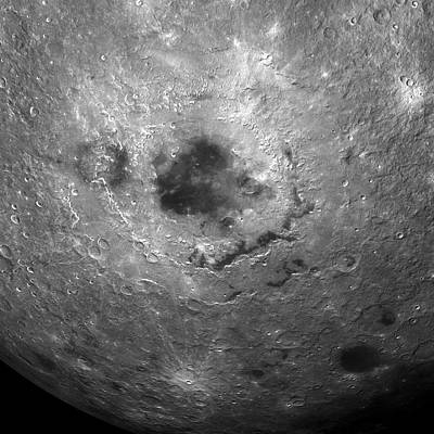 Far Side Photograph - Moon's Surface by Detlev Van Ravenswaay
