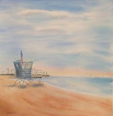 Morning By The Beach Art Print