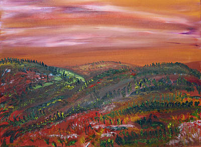 Painting - Morning Hills by James Bryron Love
