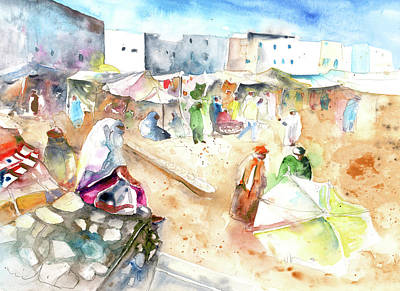 Marrakesh Painting - Moroccan Market 01 by Miki De Goodaboom