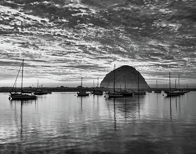 Morro Bay On Fire Art Print