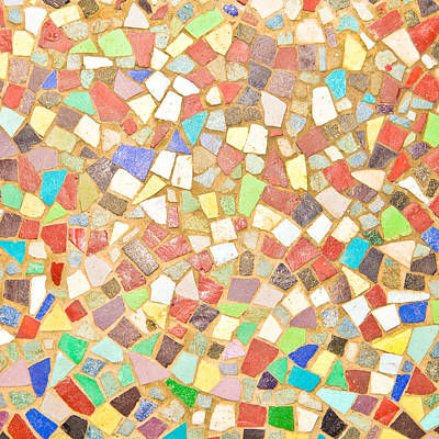 Color Block Photograph - Mosaic Background by Tom Gowanlock