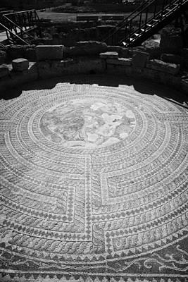 Theseus Photograph - Mosaics On The Floor Of The House Of Theseus Roman Villa At Paphos Archeological Park Cyprus by Joe Fox