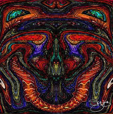 Mother Earth Mother Goddess Art Print by Shy  Blakeman
