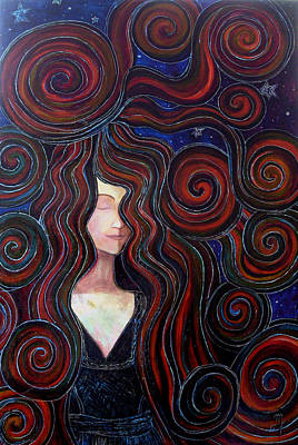 Art Print featuring the painting Mother Night by Monica Furlow