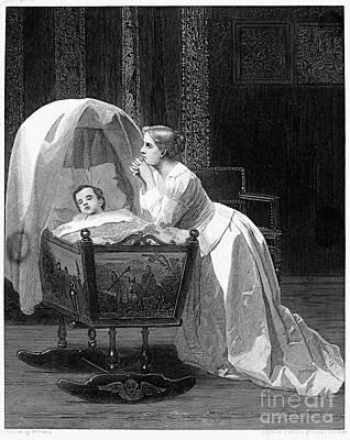 Bassinet Photograph - Mother Praying by Granger