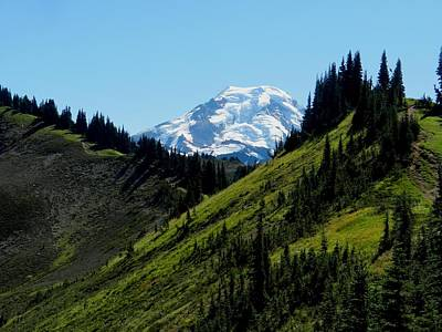 Mount Baker From The Skyline Divide Art Print by Karen Molenaar Terrell