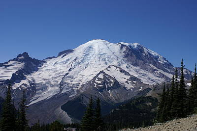 Mount Rainier Art Print by Jerry Cahill