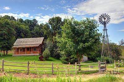 Mountain Cabin - Rural Idaho Art Print by Gary Whitton