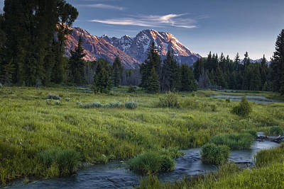 Teton Photograph - Mountain Stream by Andrew Soundarajan