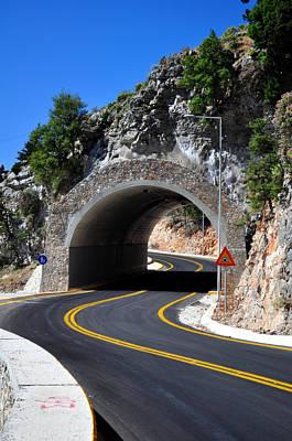 Mountain Tunnel. Art Print by Fernando Barozza