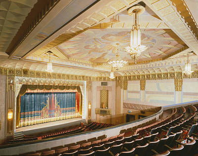 Movie Theaters, The Washoe Theater Art Print by Everett
