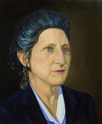 Portrait Painting - Mrs. Marsch by Phillip Compton
