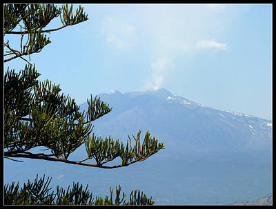 Photograph - Mt. Etna by Carla Parris