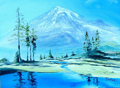 Painting - Mt. Rainier by Stefon Marc Brown