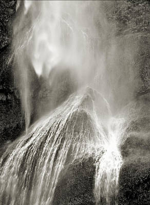 Photograph - Multnomah Cascade by Lora Fisher