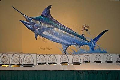 Shark Painting - Mural In St Thomas by Carey Chen