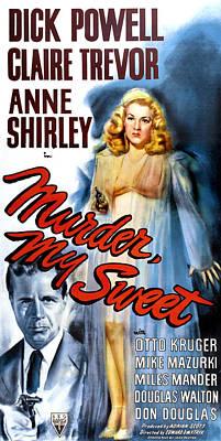 Murder, My Sweet, Dick Powell, Claire Art Print