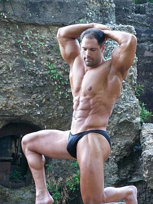 Nude Men Wrestling Photograph - Muscleart Marius Classic Poser by Jake Hartz