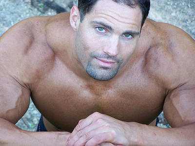 Nude Men Wrestling Photograph - Muscleart Marius The Look by Jake Hartz