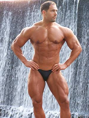 Nude Men Wrestling Photograph - Muscleart Marius Waterfall And Muscle by Jake Hartz