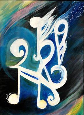 Music Firework Art Print by Tifanee  Petaja
