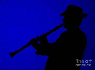 Music Man Art Print by Julie Brugh Riffey