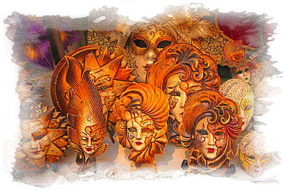 Photograph - Music Masks by Judy Deist