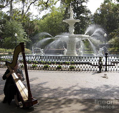 Musical Fountain Art Print