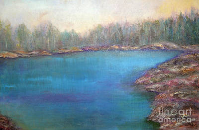 Original featuring the painting Muskoka Shore by Claire Bull