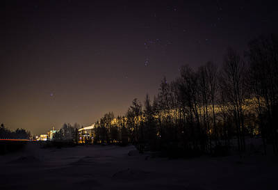 Print featuring the photograph My City Under Orion by Matti Ollikainen