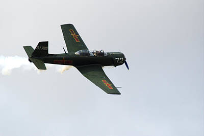 Photograph - Nanchang Cj6 Fighter In Flight by Chris Day