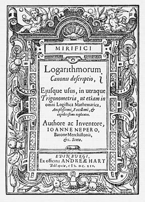 Book Title Photograph - Napiers Treatise On Logarithms by Photo Researchers