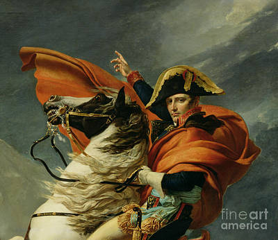St Bernard Painting - Napoleon Crossing The Alps On 20th May 1800 by Jacques Louis David