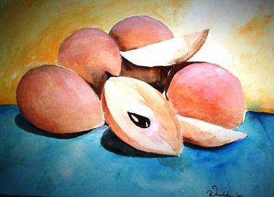 Jamaican Art Painting - Naseberries by Wandeka Gayle