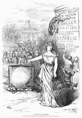 Ballot Wall Art - Photograph - Nast: Tweed Cartoon, 1871 by Granger