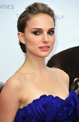 Hair Bun Photograph - Natalie Portman At Arrivals by Everett