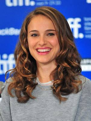 Natalie Portman At The Press Conference Art Print