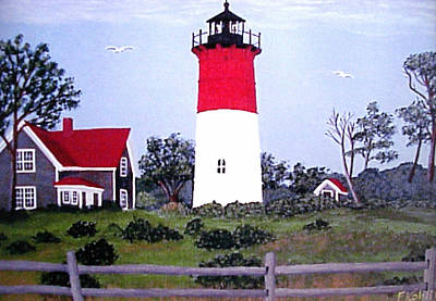 Painting - Nauset Lighthouse Painting by Frederic Kohli