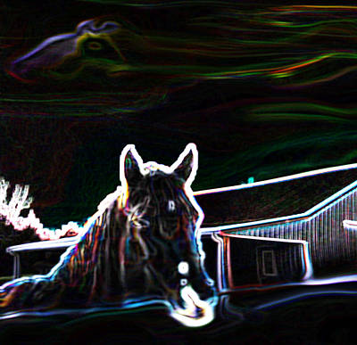 Photograph - Neon Horse by Shannon Harrington