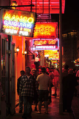 Neons On Bourbon Street Art Print by Bourbon  Street
