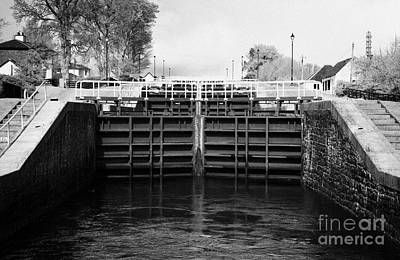 Neptunes Staircase Series Of Locks On The Caledonian Canal Near Fort William Highland Scotland Uk Art Print by Joe Fox