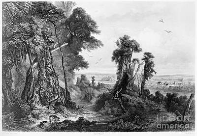 Indiana Landscapes Photograph - New Harmony, 1844 by Granger
