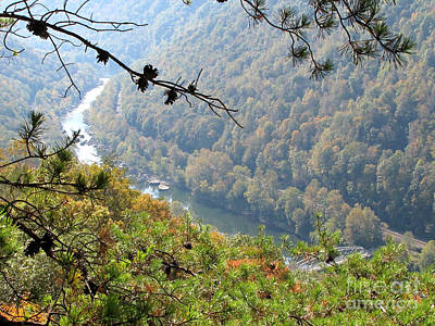 Photograph - New River Gorge In Autumn by Sandy McIntire