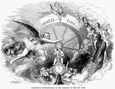 Father Time Photograph - New Year, 1854 by Granger