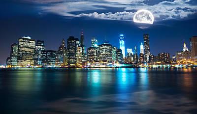 New York Skyline Art Print by Mircea Costina Photography