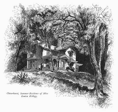 New York State: House Print by Granger