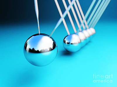 Newton Cradle 3d Art Print