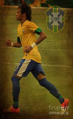 Neymar Junior Art Print by Lee Dos Santos