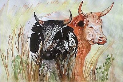 Painting - Nguni I. by Paula Steffensen